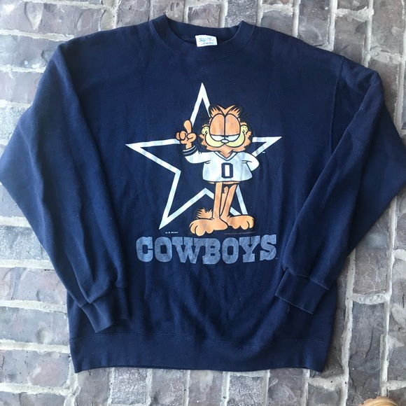 6fdcadad Vintage 90s Dallas Cowboys Garfield Crewneck